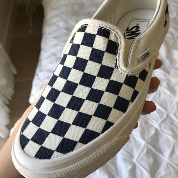 631d90b1a3 Vans Vault OG Classic Navy  White Checkerboard. M 5a4fea7a8af1c526960099a1
